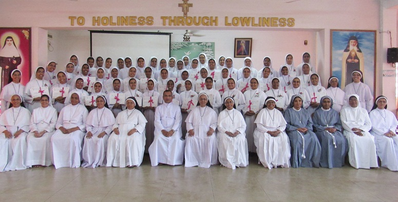 Junior sisters convocation ceremony at Portiuncula, Aluva on 7/3/2019.